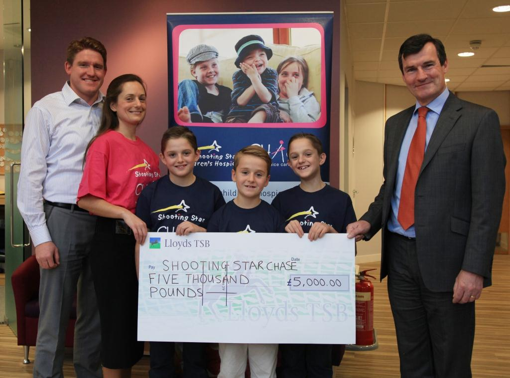 Plymouth Brethren donate to Shoorting Star CHASE