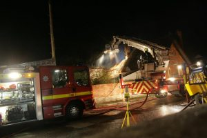 When the Salisbury RRT arrived at the scene, the house fire had already mobilised multiple fire crews.