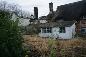 Sadly, the fire in the Village of Codford (15 miles north west of Salisbury) left two cottages destroyed and 3 families' homeless.