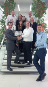 BHF Handing over the Congratulationary Certificate to the PBCC