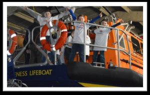 The Royal National Lifeboat Institution is the charity that saves lives at sea.