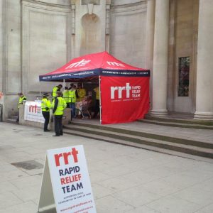 6. RRT serving food and drink to fire and police services and London Holborn Electrical Fire