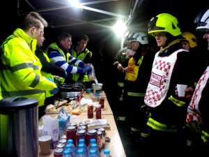 By 10 pm the house had been declared safe and the majority of straw had been cleared away, several crews were stood down and the demand for refreshments lessened – the commander informed the RRT was it free to leave the incident.