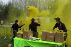 Let The Colour Fly!  (nearly two tonnes of colour was thrown!)