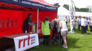Free coffee at the RRT tent