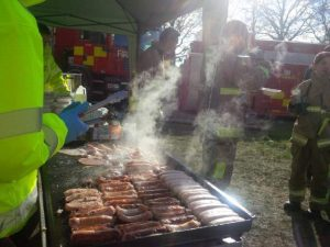 Cooking and serving food for the weary crews