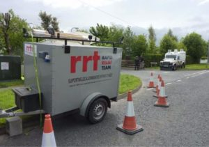 RRT at the end of the road where the bomb was located.