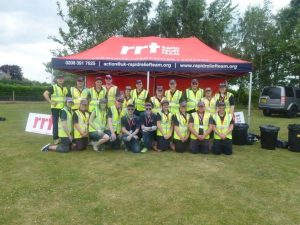 RRT Teams at the end of a long and colourful day…