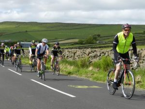 Participants cheerfully undertake the 100 mile cycle across the scenic County Antrim countryside in aid of the charities Cancer Focus and Marie Curie.