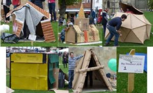 Shelters of all shapes and sizes – everyone took great pride in their work