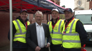 MP Glyn Davies with some of the RRT members
