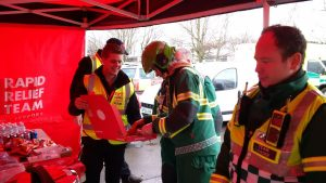 Stafford Fire March '16 - RRT serving food to the Ambulance crews
