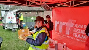 RRT Bournemouth French Boules Pitch 20170225 Tasty chicken Fillet burgers!